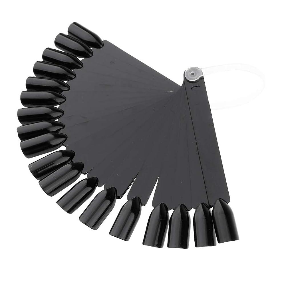 集中フレット先例F Fityle 全3色 24点 マニキュアツール ネイルチップ ネイルアートヒントスティック - ブラック