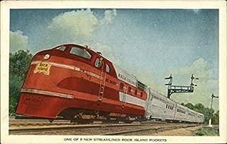 One of 8 New Streamlined Rock Island Rockets Trains Railroad Original Vintage Postcard