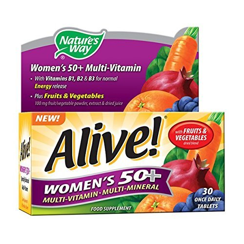 (2 Pack) Alive! Women's 50+ Multi-Vitamin and Multi-Mineral | 30 Tablets | 2 Pack Bundle