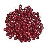 EFCO 1401028 12 mm 30-Stück Holzperlen, dunkles Rot