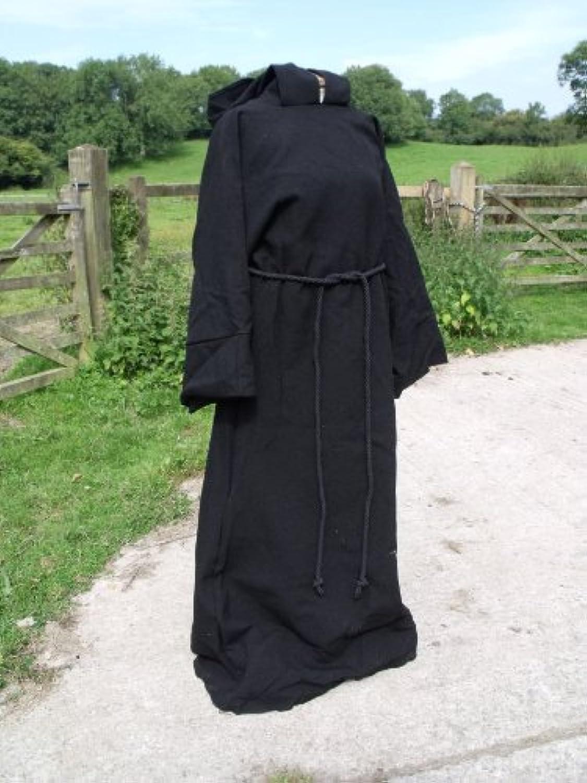 schwarz Cotton Drill Hooded Pullover Robe SM Adult Größe Pagan Jedi Wizard LARP B00A0K6SX8 Elegantes Aussehen  | Spielzeug mit kindlichen Herzen herstellen
