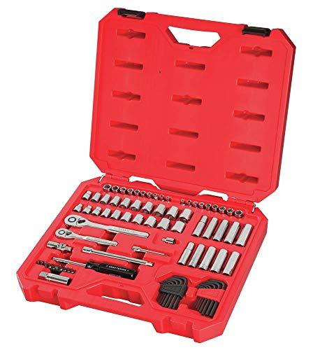 CRAFTSMAN Mechanics Tool Set, SAE / Metric, 1/4-Inch Drive, 83-Piece (CMMT12021)