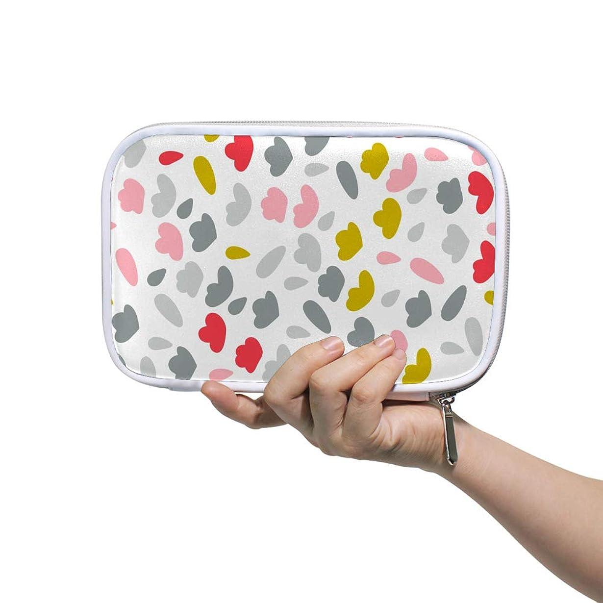 防止インタフェース手首ZHIMI 化粧ポーチ メイクポーチ レディース コンパクト 柔らかい おしゃれ 化粧品収納バッグ コスメケース 奇麗な柄 機能的 防水 軽量 小物入れ 出張 海外旅行グッズ パスポートケースとしても適用