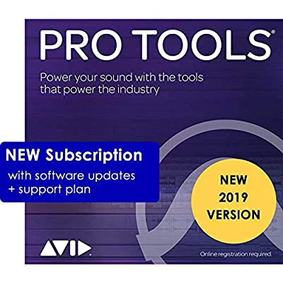 Avid Pro Tools 2019 Annual Subscription (Download Card Only - Activate with iLok Cloud)