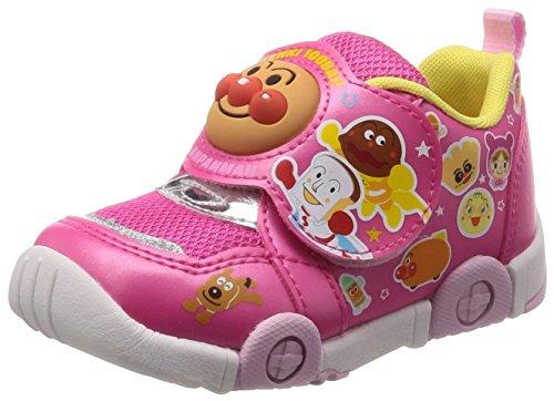 Moonstar = PARENT = 運動靴 マジック ゆったり 軽量 抗菌防臭 キッズ APM C147 ピンク 14 cm 2E [3270]