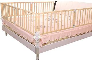 XJJUN-Barandillas para camas Cerca De Bebé A Prueba De Caídas De Madera Cama De Seguridad para Niños Muy Alto Sólido Y Duradero Adecuado para Niños Pequeños, 6 Tallas