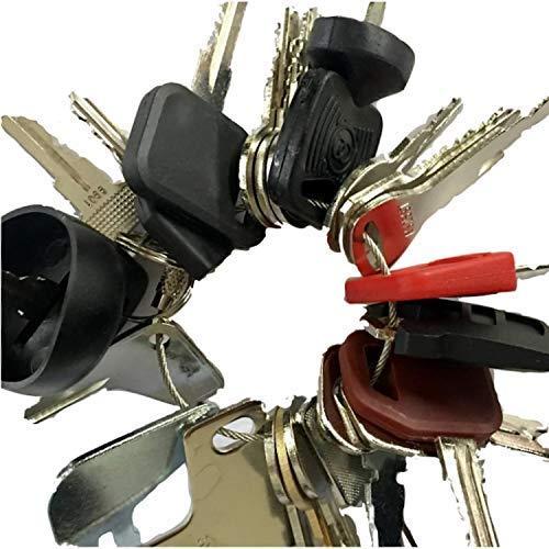 Heavy Equipment Key Set 24 Keys ON Ring FITS: Bobcat BOMAG CASE Caterpillar Clark Fiat GEHL Genie GRADALL Ingersoll JCB Deere MULTIQUIP SKYTRAK Toyota and MOR