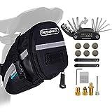TBoonor Fahrrad Satteltasche mit 16 in 1 Werkzeuge Fahrrad Reparatur Set umfassen Fahhradtasche und Werkzeugsets und Fahrradventil Adapter die Fahrrad-Reparatur für Mountainbikes und Rennräder