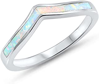 Colors Available! Solid Sterling Silver .925 Chevron Thumb V Shape Ring Sizes 3-13
