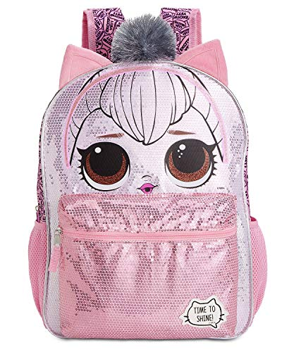 LOL Surprise Queen Kitty Backpack for Girls - 16 Inch - LOL School Bag Elementary School Size