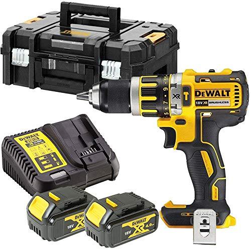 DeWalt DCD795M2 18V Brushless Combi Drill + 2 x 4Ah Batteries, Charger & Case