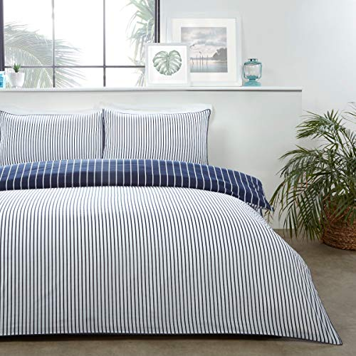 Sleepdown Set di biancheria da letto con federe, reversibile, morbido, facile da pulire, con federe, 220 x 230 cm