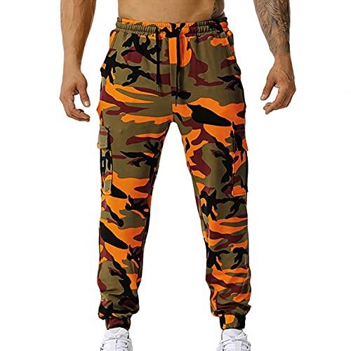 BIBOKAOKE Herren Freizeithose Camouflage Sporthose Fitnesshose: Leicht Outdoor Trekkinghose Jogginghose Casual Loose Trainingshose Elastic Waist Laufhose Lang Heimhose Sweatpants Wanderhose