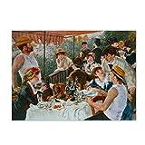 Pierre Auguste Renoir The Boater's Lunch Famoso cuadro sobre lienzo Impresiones y póster Cuadro artístico de pared para decoración de sala de estar 70x100cm (28x39in) Sin marco