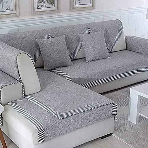 BEICHENG Protectora para sofá sofá Chaise Longue Brazo Izquierdo y Derecho en Forma de Esquina sofá Funda Protectora Larga 100% Fibra de poliéster antiincrustante Ajustable-A 90x160cm(35x63inch)