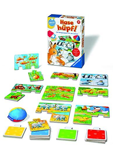 Ravensburger 24735 - Hase hüpf! - Bewegungsspiel für die Kleinen - Spiel für Kinder ab 2 Jahren, Spielend erstes Lernen für 1-4 Spieler
