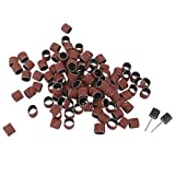 SKA™ Imported 51pcs 1/2' Sanding Drum Sleeves with 2 Rubber Mandrel Bands Set Rotary Tool