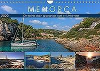 Menorca, die kleine doch grossartige Insel im Mittelmeer (Wandkalender 2022 DIN A4 quer): Die kleine Schwester von Mallorca besticht durch unberuehrte Natur, malerischen Leuchttuermen und historischen Plaetzen. (Monatskalender, 14 Seiten )