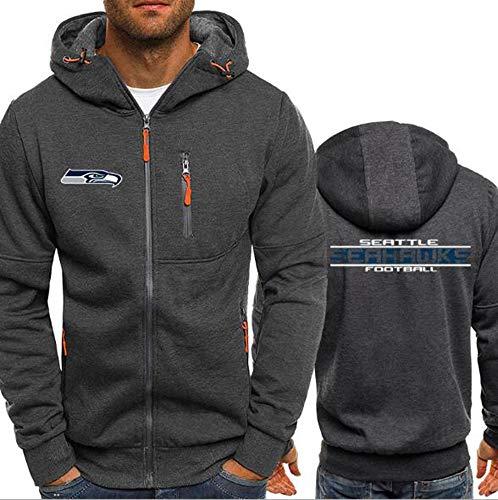 CCKWX NFL Hoodie – Seattle Seahawks American Football Trainings-Sweatshirt, Unisex, warmes Fleece-Sport-Pullover XL