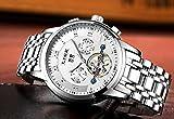 LIGE Herren Uhr Analog Automatik mit Edelstahl Armband 9841 - 4