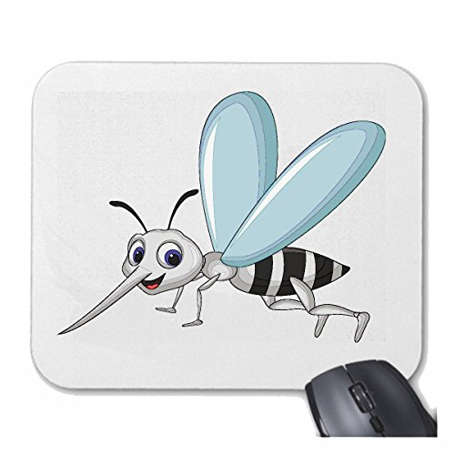Reifen-Markt Mousepad (Mauspad) LUSTIGER MOSKITO STECHMÜCKE FALTENWESPENWESPEN Bienen Hummel VESPINAE HORNISSE für ihren Laptop, Notebook oder Internet PC (mit Windows Linux usw.) in Weiß
