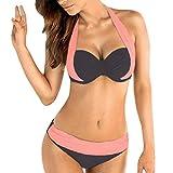 heekpek Femme Maillots de Bain Brésilien Deux pièces Sport Push Up Bikini 2 Pieces Bandage Maillot Ensemble Bikini Bandeau...