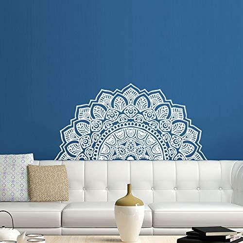 YuanMinglu Yoga Studio Vinyl Wandaufkleber Dekor Mandala Marokkanisches Dekor Schnaps Schlafzimmer Dekoration 85x42cm