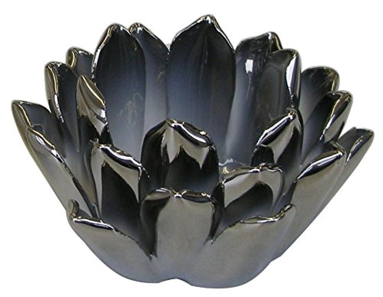 コロニアル伝統クリープマルエス 燭台 陶器製 ロータス 小 シルバー