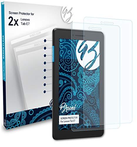 Bruni Schutzfolie kompatibel mit Lenovo Tab E7 Folie glasklare Displayschutzfolie 2X