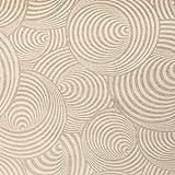 Kt KILOtela Tela de loneta resinada - Mantelería Antimanchas - Retal de 200 cm Largo x 140 cm Ancho | Geométrico Magaluf - Beige, Blanco ─ 2 Metros