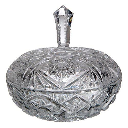 Cristal de Bohemia Tallada Bombonera, Cristal, 18x18x17 cm
