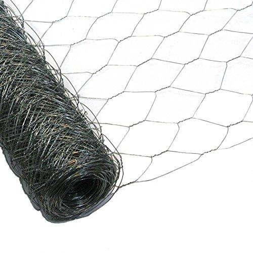 Garmix Treillis Hexagonal   Grillage Clôture pour Poulailler Lapin Enclos Parc Jardin   Fils de Fer 0,7 mm galvanisé, maille 50mm (100cm x 50m)