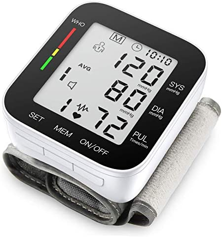 Blood Pressure Monitor Automatic Large LCD Display Adjustable Wrist Cuff Automatic Dual 90 Reading product image