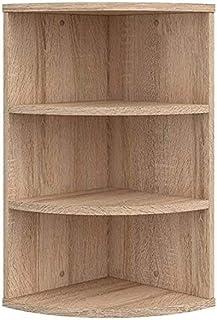 Vicco estantería esquinera Ecki librería SonomaRoble 3 Compartimentos estantería Colgante estantería de baño estantería d...