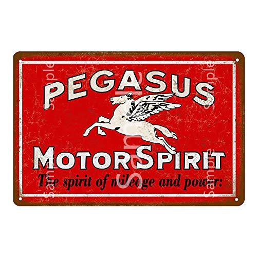 GVFDNTFRF Aceite de la Motocicleta Vintage Carteles metálicos Gasolina Texaco Motor Aceite Servicio de Gas Placas de Hierro Garaje Pub Decoración Arte Pintura Cartel 20x30cm YD11870L