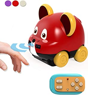 Ulalaza Toddler Toy Cars RC Remote Control Auto Follow & Obstacle Avoidance Mini Cartoon Animal Vehicles Gifts for Boys Girls