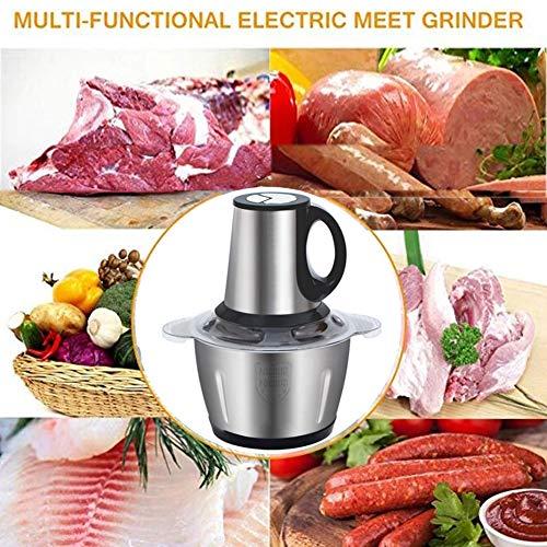 3L Multifunctionele Bijl Van Het Voedsel, 300W Food Processor, Meat Grinder Elektrische Gemakkelijk Schoon Te Maken, Met Sharp Blades & Stainless Steel Bowl, Voor Groente Snijden
