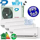 AIR CONDITIONER 4X MULTI SPLIT WI-FI DILOC 2,5   2,5   2,5   2,5Kw compressor SHARP