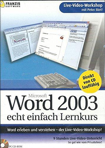 Word 2003 Lernkurs echt einfach [Import allemand]