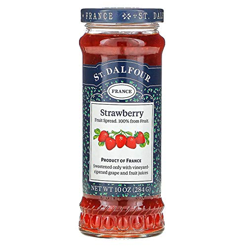 St. Dalfour Jam - Strawberry , 100% Fruit Spread, An Old French...
