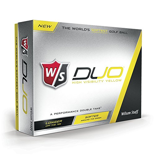 Wilson Staff Duo Golf Balls, Yellow, 12 Piece