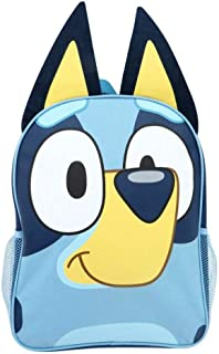 Bluey Blue Backpack Bag with Front Zip Pocket