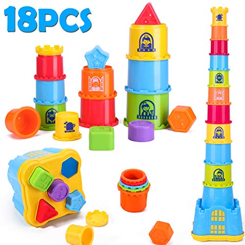 Check Out This iPlay, iLearn Baby Stacking, Nesting and Sorting Cups, Counting Toys, Indoor, Outdoor...