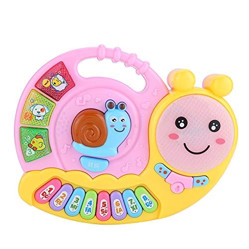 Baby Klavier Spielzeug frühe Pädagogische Elektronische Musik Instrument Nette Schnecke Bild Auditory Tactile Development Toy Lernen Intelligentes Spielzeug Geschenke(Rosa)