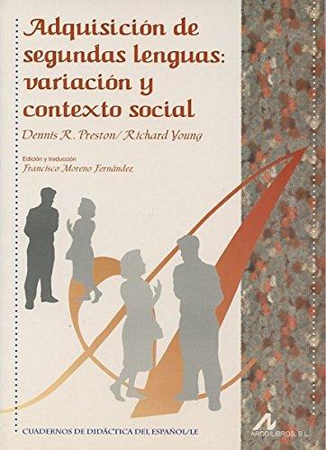 Adquisición de segundas lenguas, variación y contexto social
