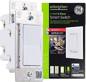 2-Pack GE Enbrighten Z-Wave Plus Smart Light Switch