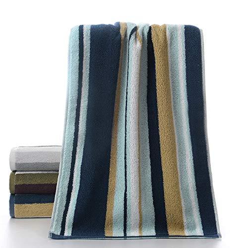 CMZ Toalla de algodón Puro a Rayas de algodón Puro Pareja Gruesa Toalla Simple Absorbente 32 Hilos de algodón Peinado (35x75 cm)