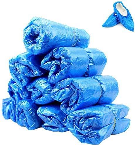 Pppby - Juego de 100 unidades, 50 pares de fundas de zapatos desechables de plástico para exteriores (azul), color Azul, talla Talla única