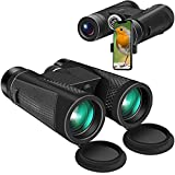 Binoculars for Adults, 12x42 Binoculars for Bird Watching Compact Hunting Binoculars with Clear Low-Light Vision, 18mm Big Eyepiece Outdoor Sports and use of Bak4 Fmc 16.5mm Super Bright Bak4 Prism