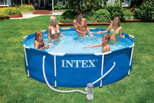 INTEX Kit piscinette Metal Frame ronde 3,66 x 0,76 m
